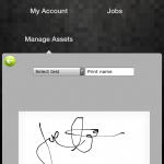 Capture customer signatures